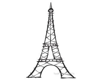 Drawn eiffel tower  for Tower drawing Eiffel