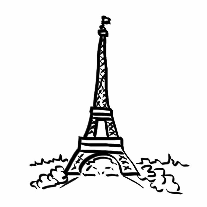 Drawn eiffel tower Drawing Eiffel Pencil Art Tower