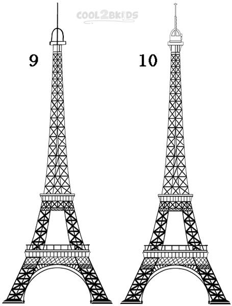 Drawn eiffel tower How Step How 5 Draw