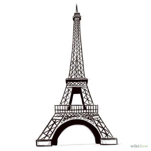 Drawn eiffel tower  the Tower Eiffel Draw