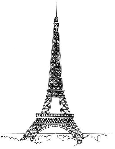 Drawn eiffel tower Tower Draw Draw Eiffel Triangle