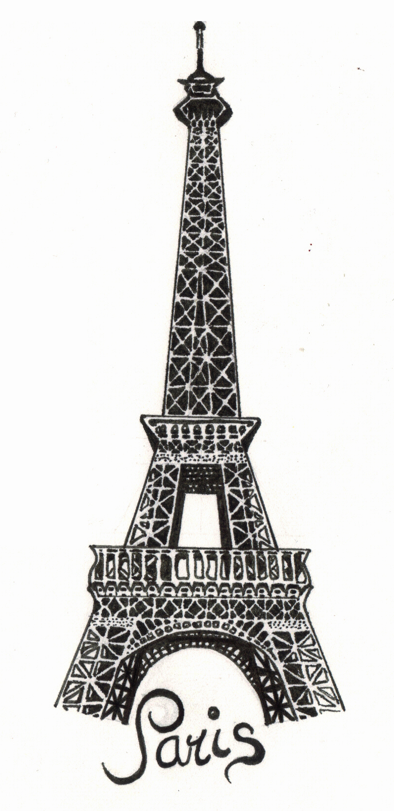 Eiffel Tower clipart paris wallpaper Drawing quality Tower Art mobile