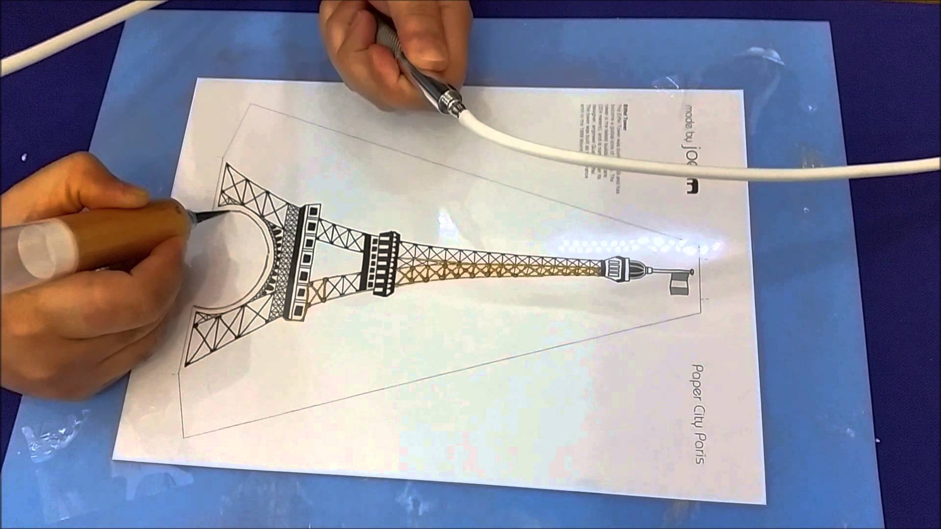Drawn cake eiffel tower Trace ? using draw How