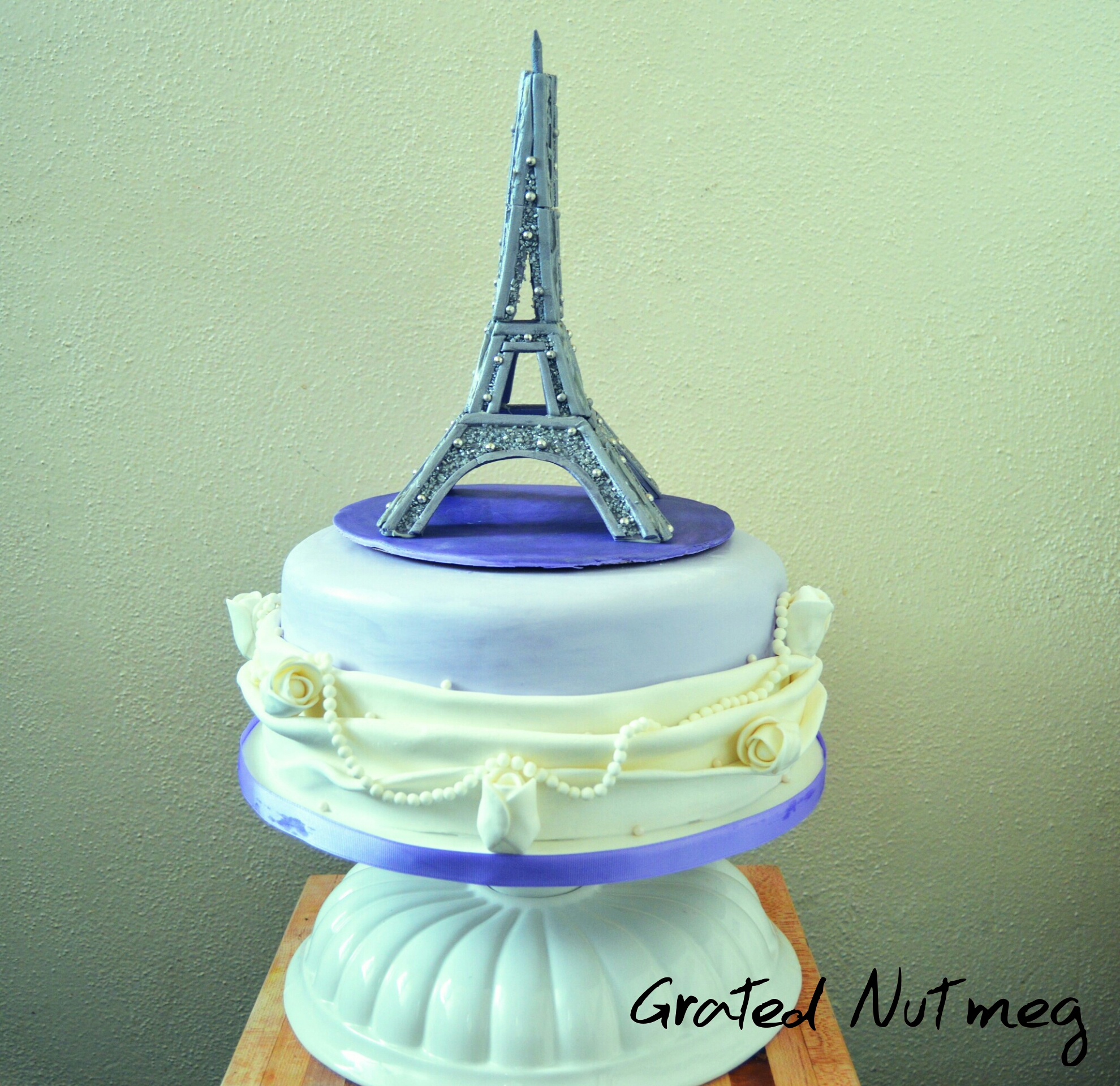 Drawn cake eiffel tower Grated Fondant Tower paris 3D