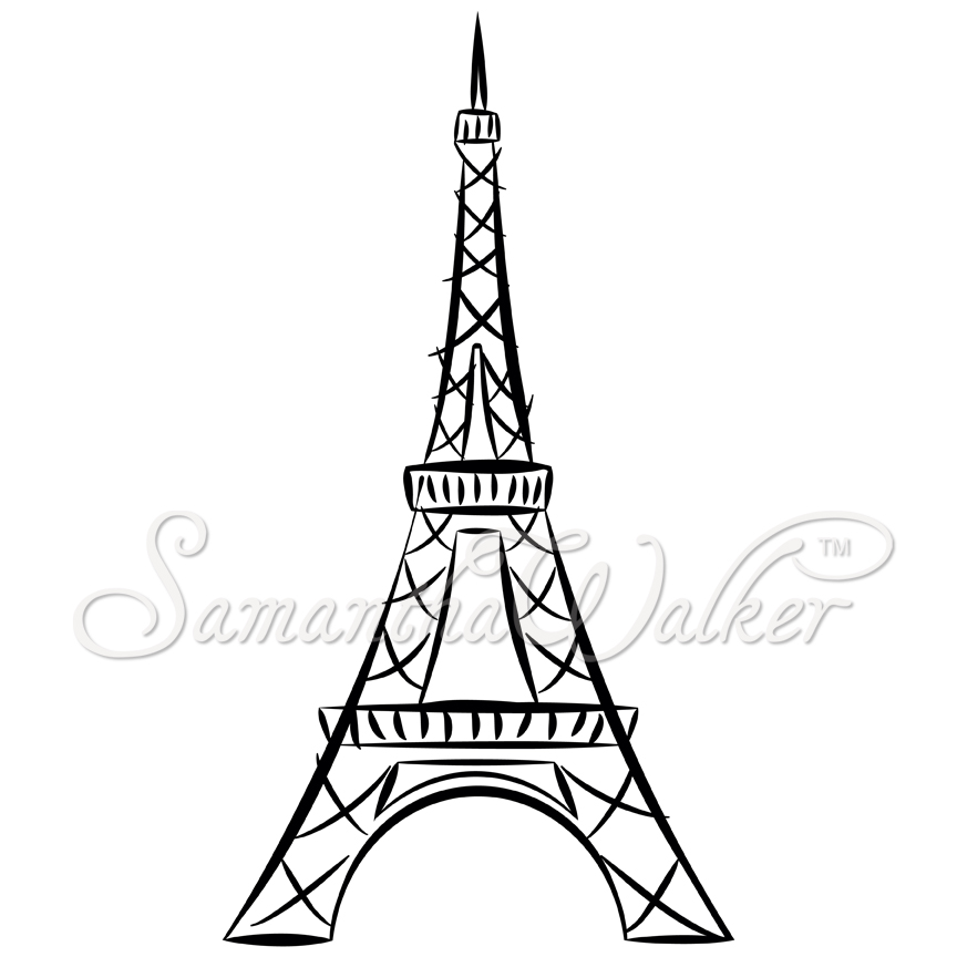 Eiffel Tower clipart line drawing Of eiffel of Google Search