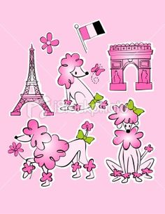 Drawn poodle pink Poodle  Eiffel in French