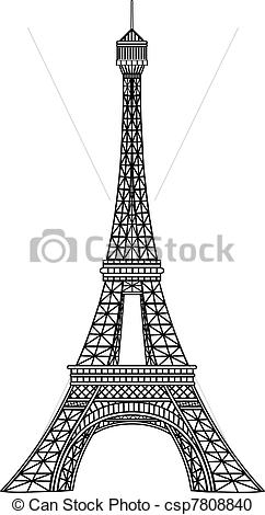 Eiffel Tower clipart line drawing Clipart tower Clip Vector Search