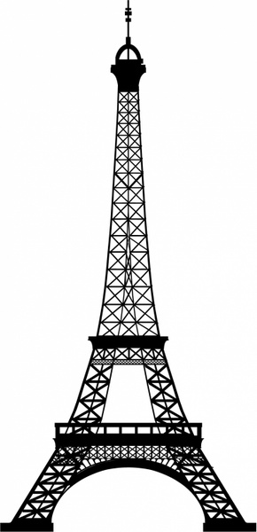 Eiffel Tower clipart silhouette Vector) Eiffel commercial Free