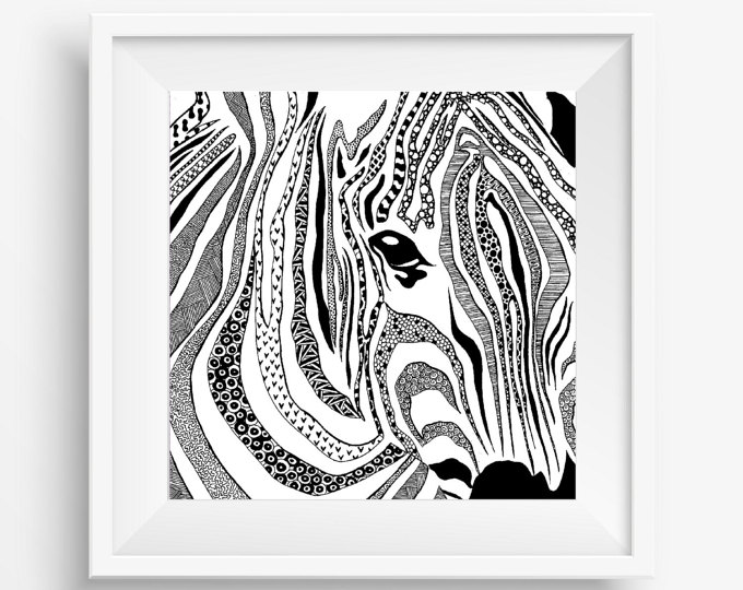 Drawn eiland black and white And Art Zebra Tribal Drawing