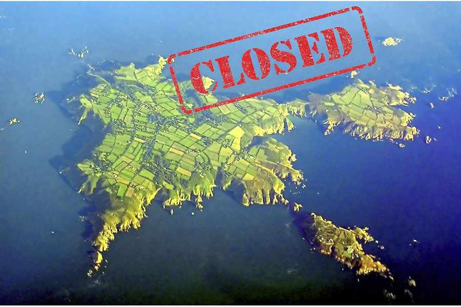 Drawn islet brecqhou « to shut all closed_900