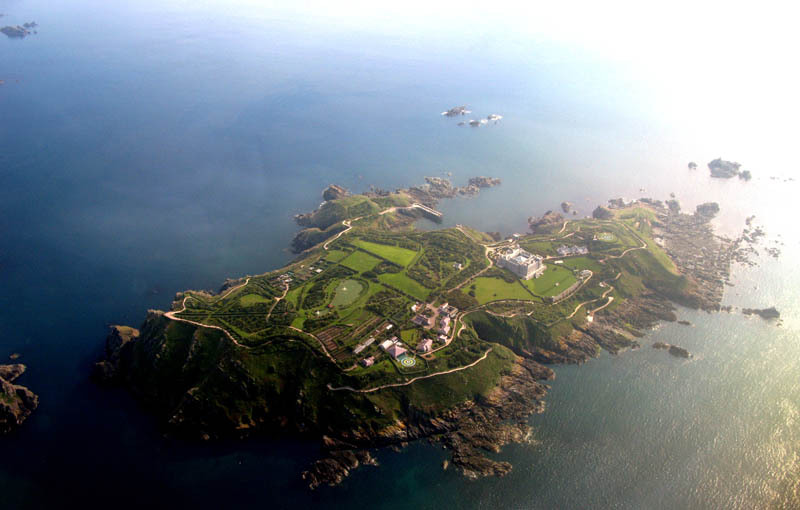 Drawn islet brecqhou Of air Picture the of