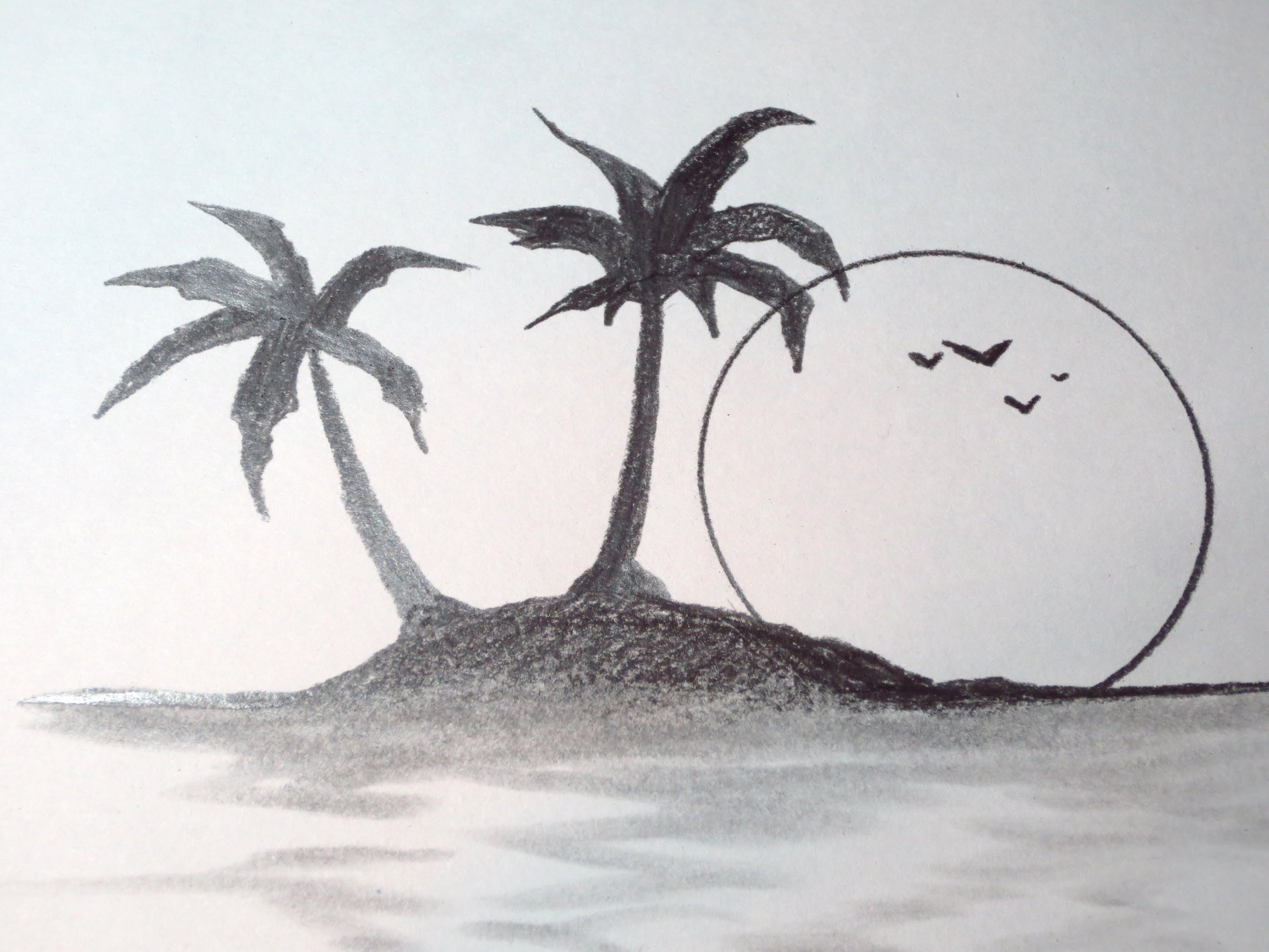 Drawn island deserted Tropical To Draw Draw How