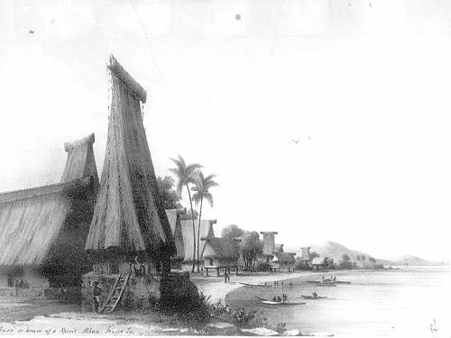Drawn islet fiji Scene a Lieut Spirit sea