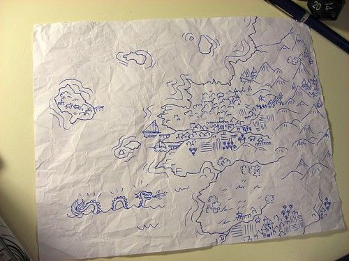 Drawn eiland imaginary Images starting A simple maps
