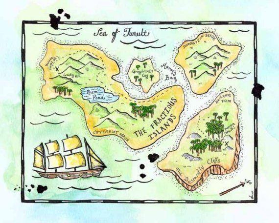 Drawn eiland imaginary Art The Fractious / Treasure