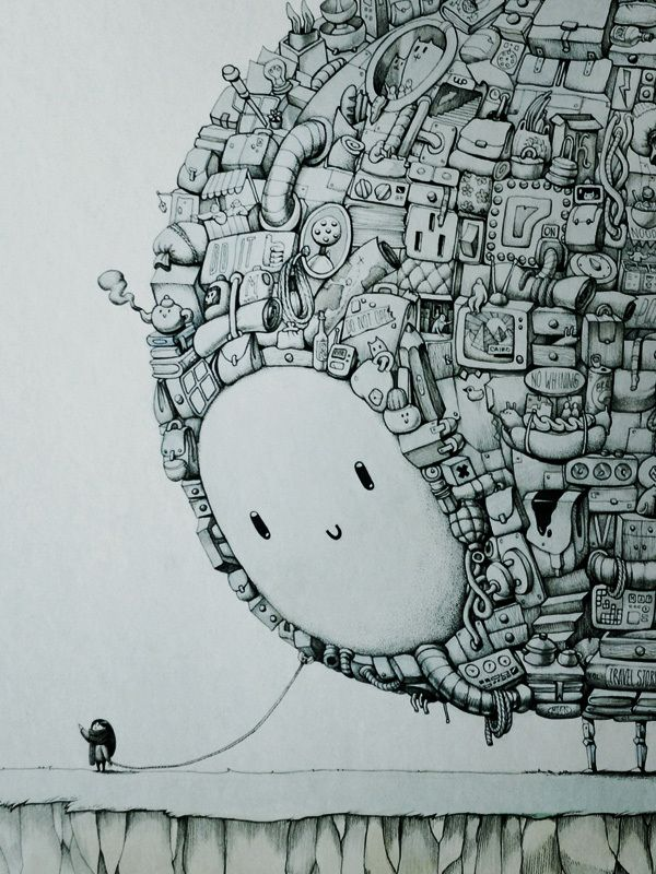 Drawn eiland imaginary 268 The Companion Behance ink