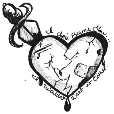 Drawn heart emo Best Drawing images Heart heart