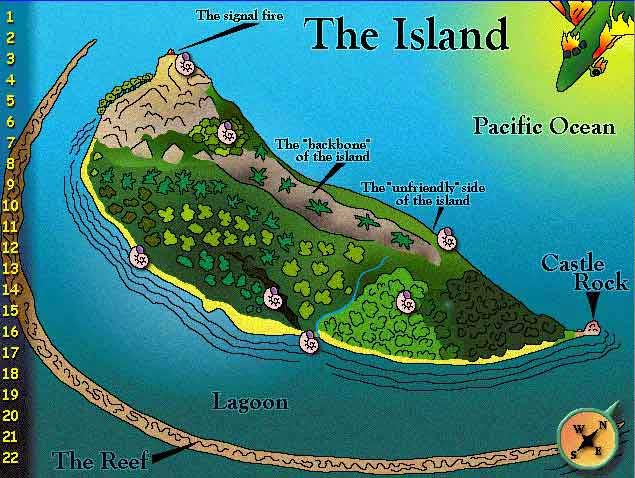 Drawn island lotf  flies setting Search of