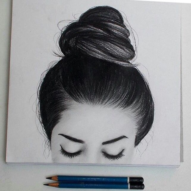 Drawn photos artsy More 62 tatsandcoffee☾➵ Hair //