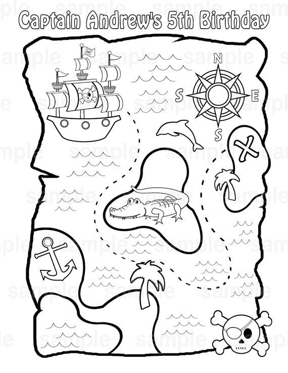 Eiland clipart coloring page On Birthday images or childrens