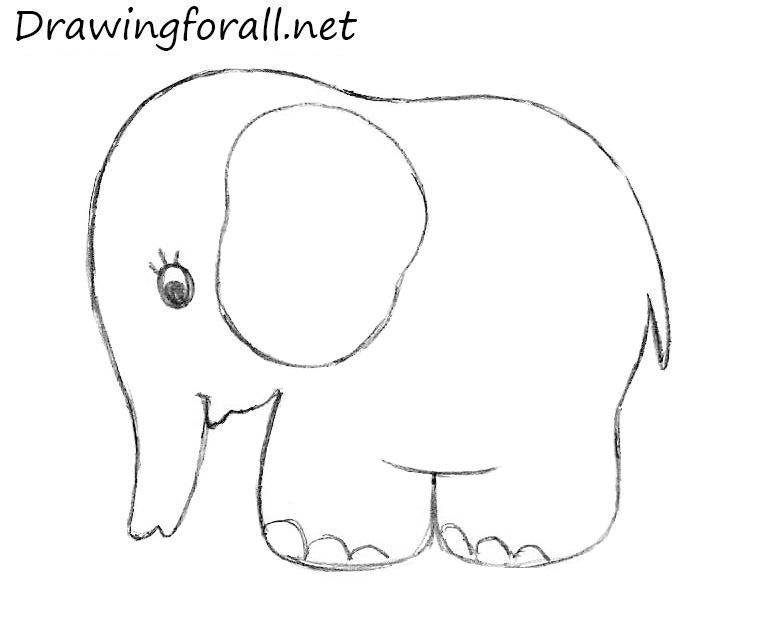 Drawn elephant Draw kids for enephant To