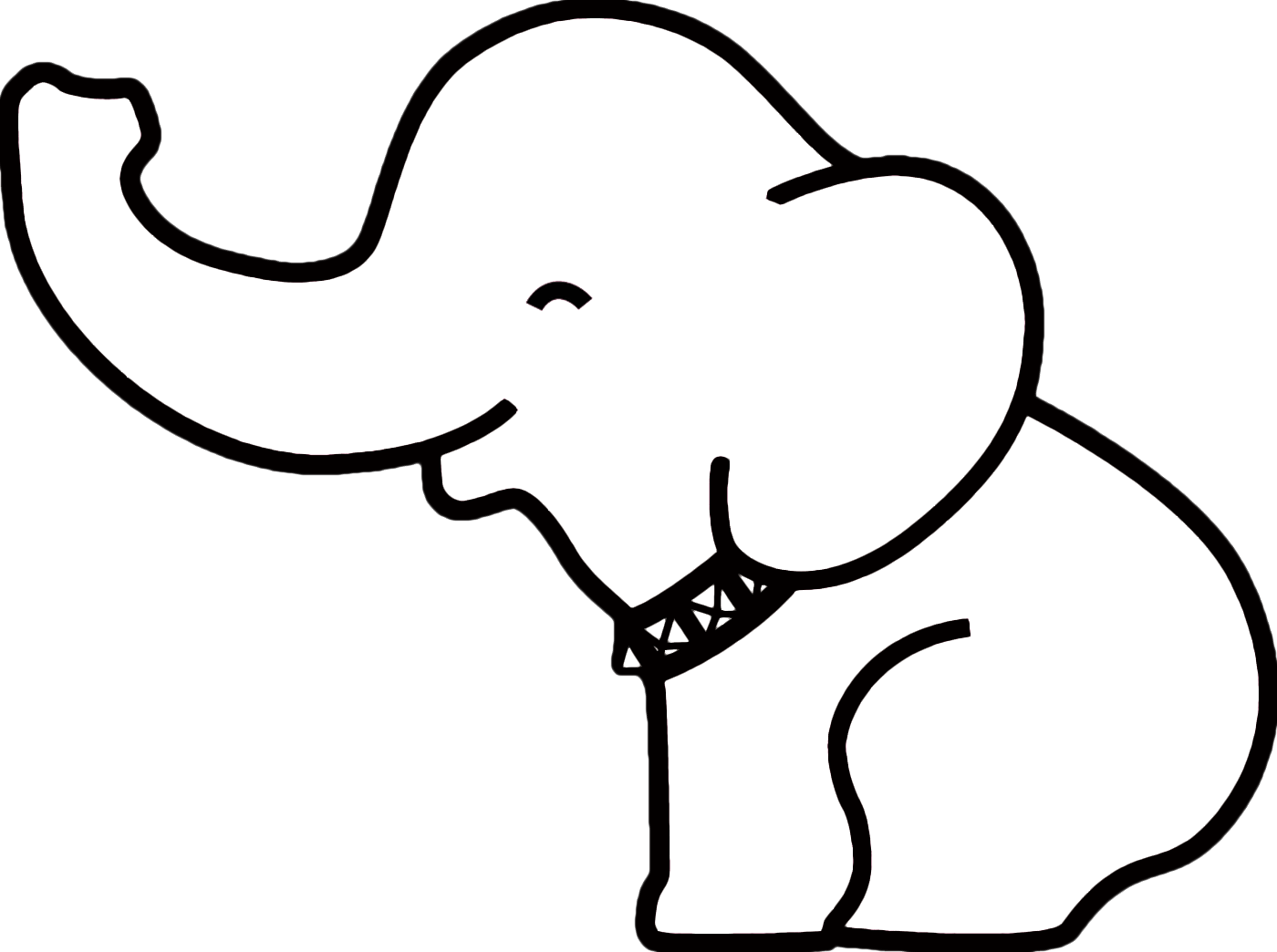 Paw clipart elephant On ideas elephant Outline drawing