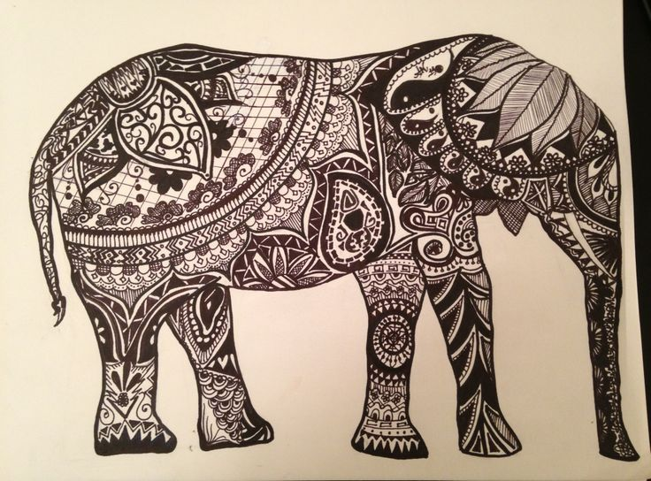 Drawn asian elephant Sharpie Indian Best Elephant on