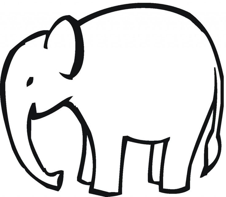 Simple clipart elephant The ideas Clipart Outline Free