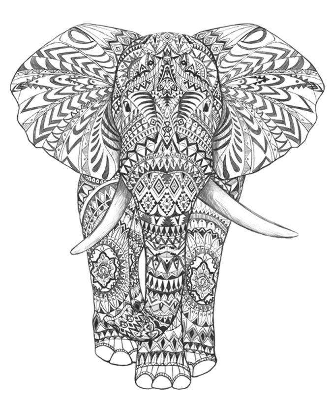 Black  elephant #graphic Aztec