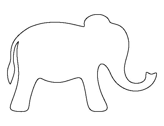 Simple clipart elephant Creating best the pattern printable