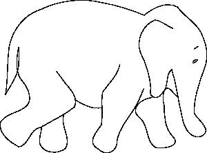 White Tiger clipart bengal tiger Online Outline Elephant Art Clip