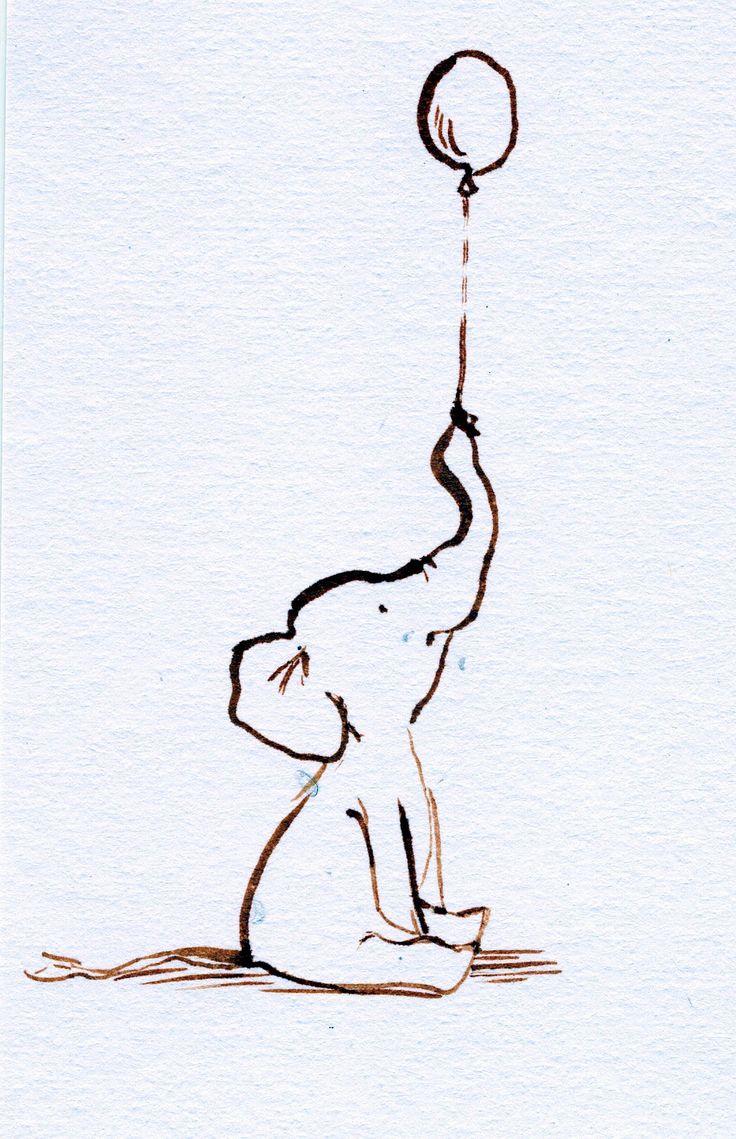 Drawn night basic Balloon 25+ elephant baby Best