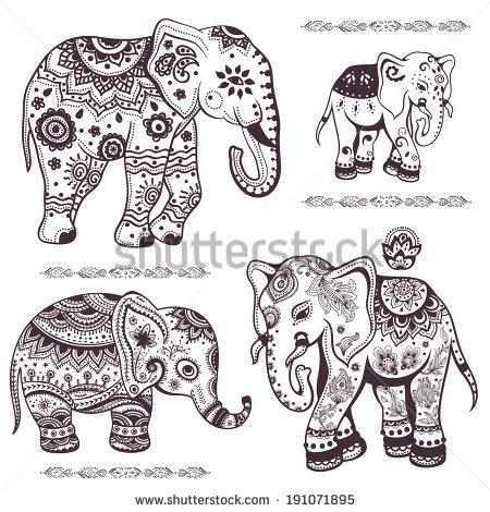 Elephants Pinterest  ethnic Indian