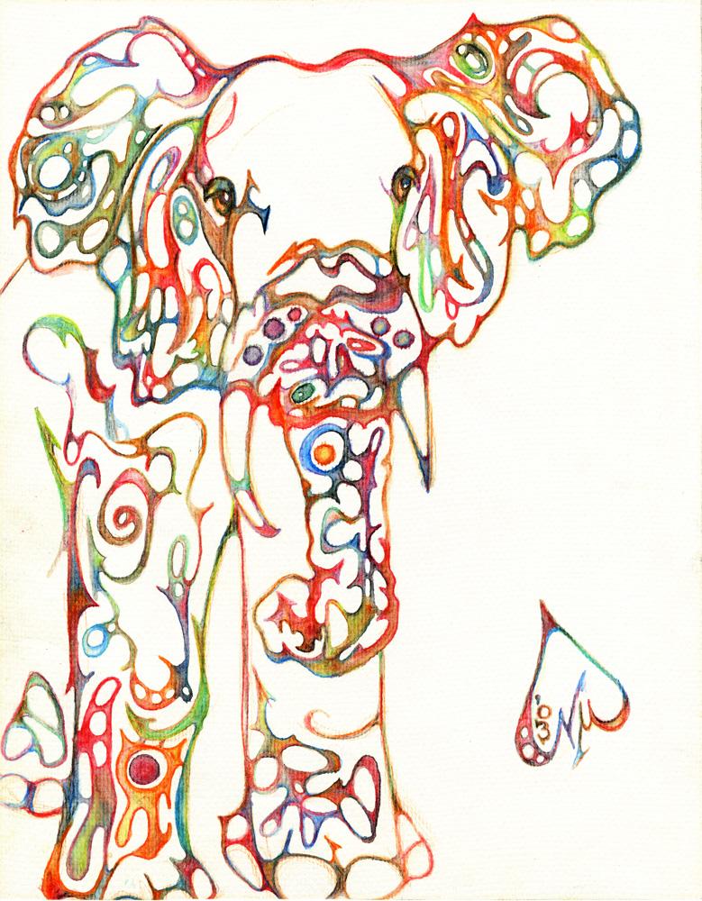 Drawn triipy elephant 2013 Fragmentalist July for elephant