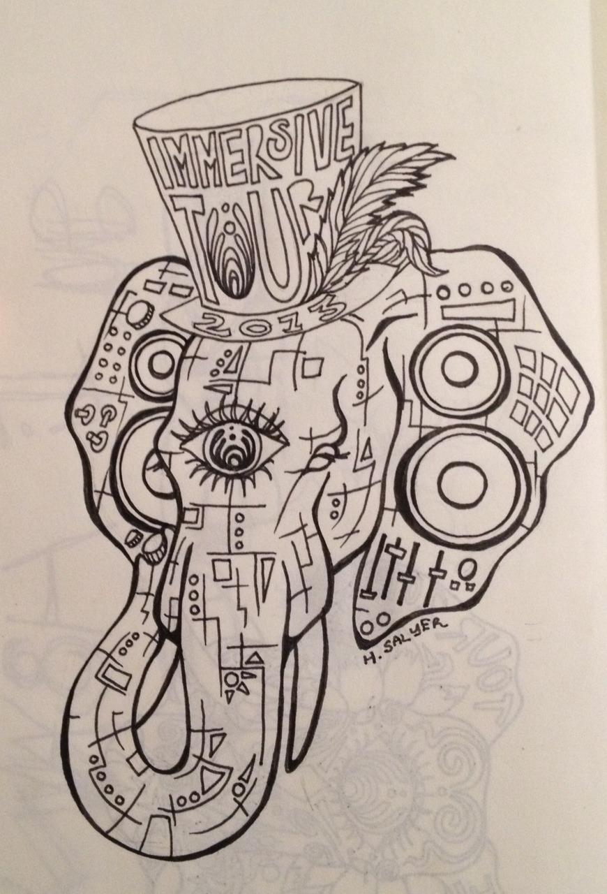 """Drawn triipy elephant My drawing elephant"""" elephant the"""