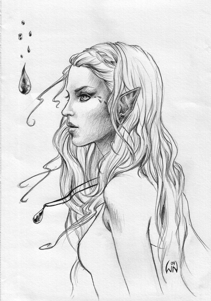 Drawn elf Elf Art Drawing Pencil Elf