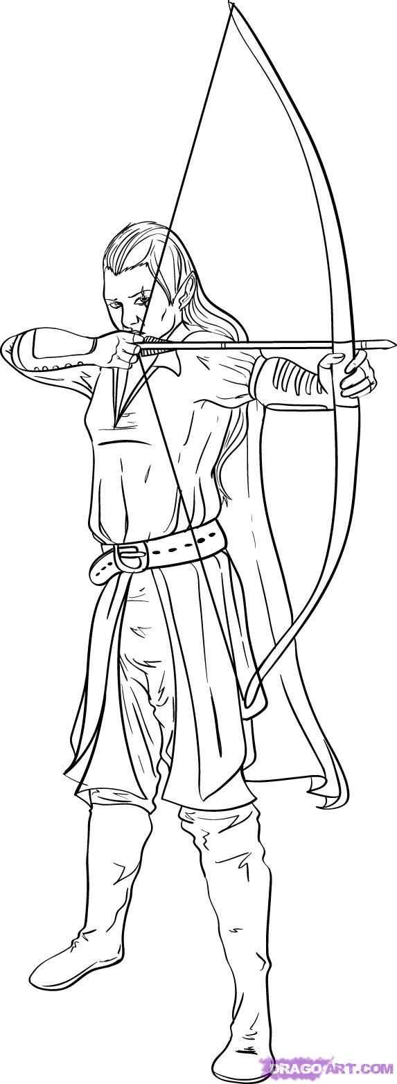 Drawn elf FREE how Elves Online archer