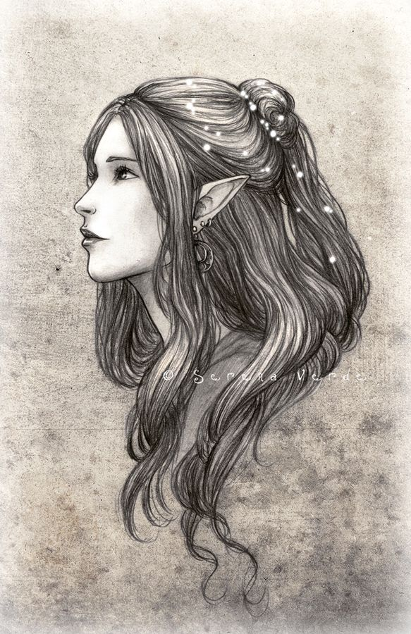 Drawn elfen On NadezhdaVasile Pinterest Elves Best