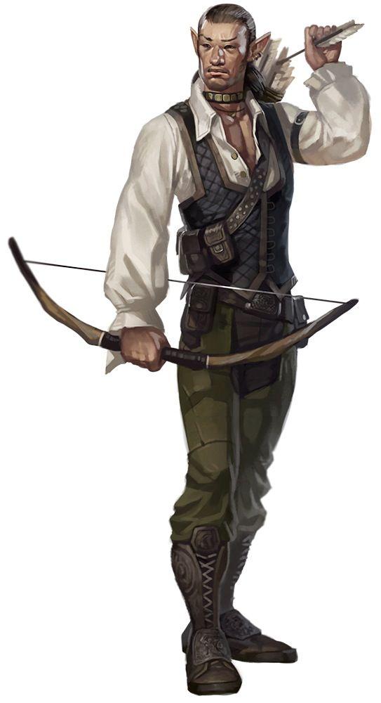 Drawn figurine male archer 164 Asian stupid unshootable of