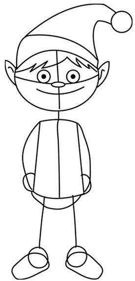 Drawn sanya simple Draw Santa Christmas How by