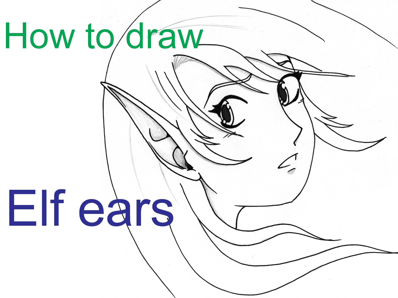 Drawn fairy elf ear Ears elf draw to YouTube