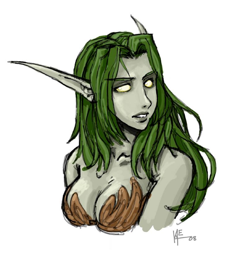 Drawn elf night elf Elf drawing Night RistyMcFist Night