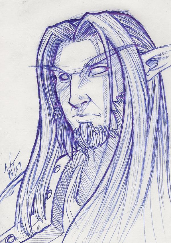 Drawn elf night elf Night Elf Sketch: WesTalbott Sketch: