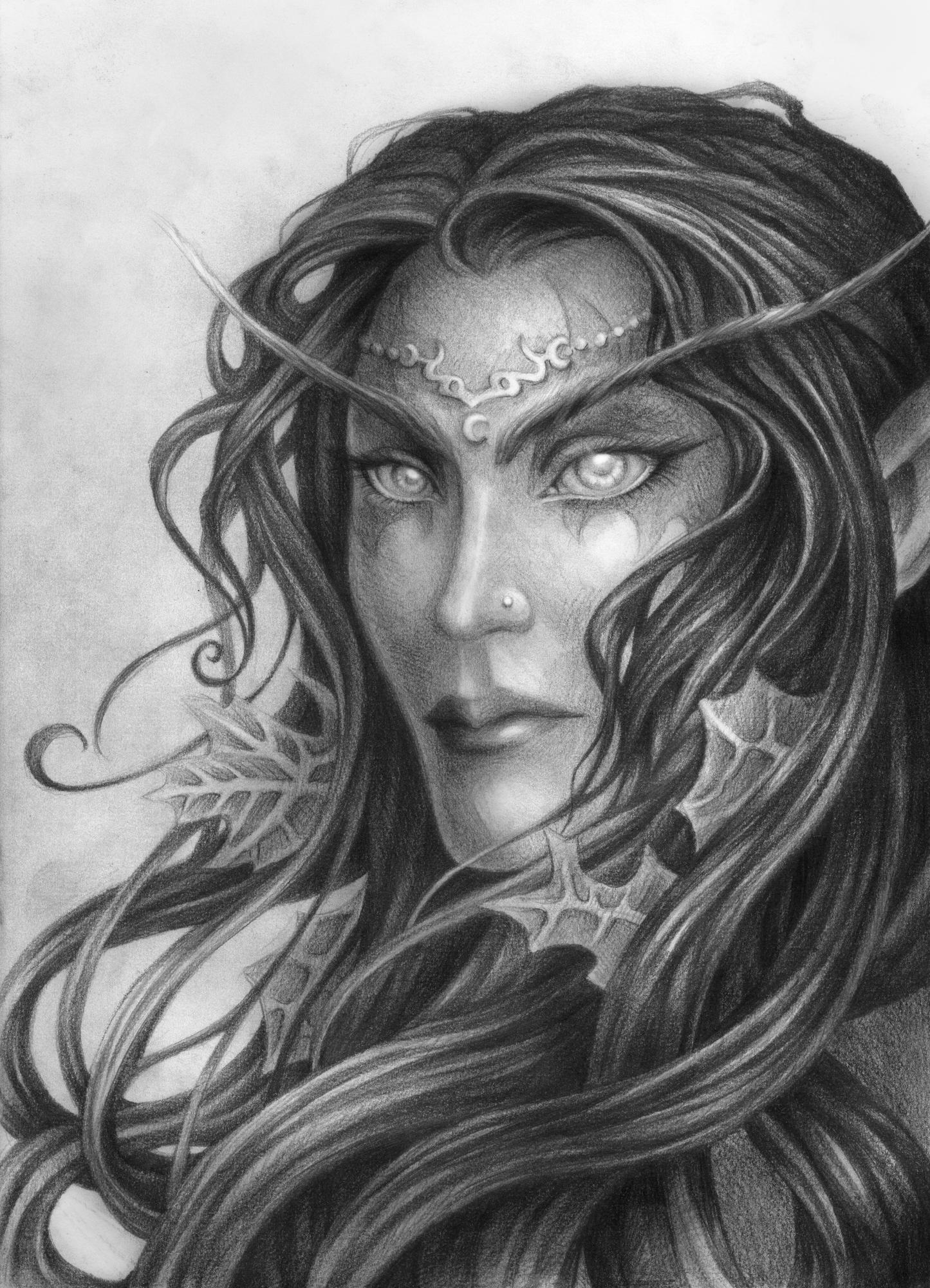 Drawn elf night elf Night Rali  later* Night