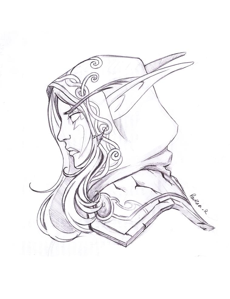 Drawn elf night elf Elf RikaChan3 Night DeviantArt Elf