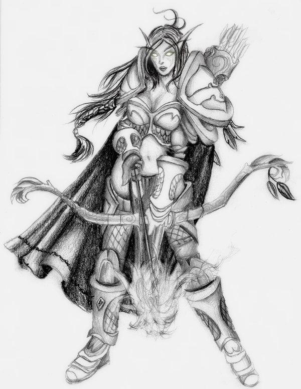 Drawn elf night elf Elf Hunter Night hornetchik Night