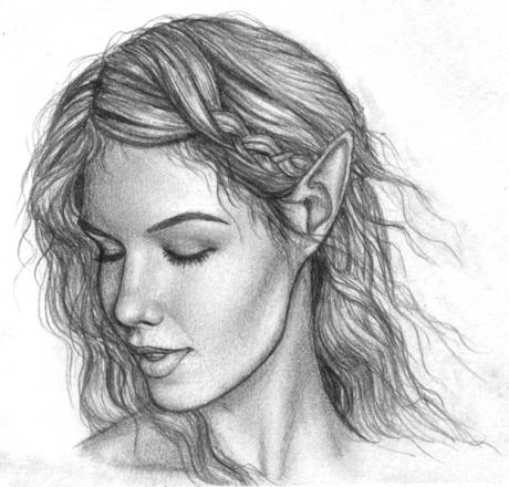 Drawn elf pencil drawing #5
