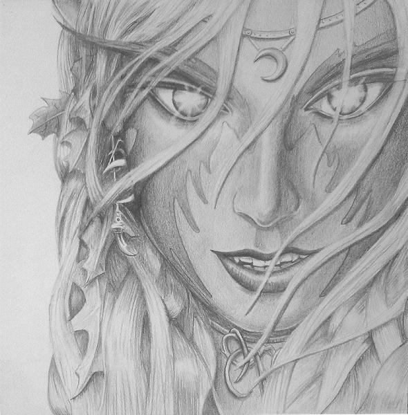 Drawn elf pencil drawing #8