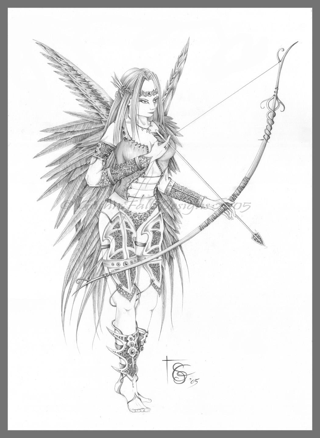 Drawn elf pencil drawing #4
