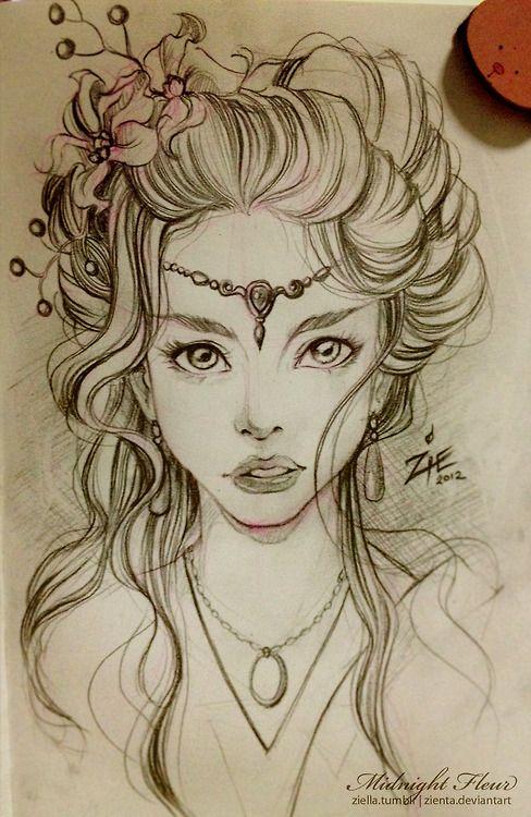 Drawn elf pencil drawing #7